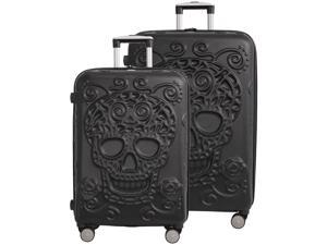 """Skulls 2 Piece Spinner Set (26"""" & 30"""") - Black"""