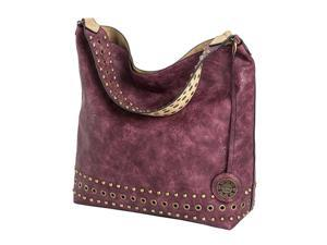 Reversible Stud Hobo - Wine/Sand