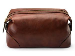 Dolce Old Leather Shave Kit - Dark Brown