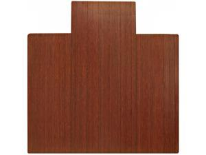 "Bamboo Dark Cherry Standard Roll-Up Chairmat, 55"" x 57"", with lip"