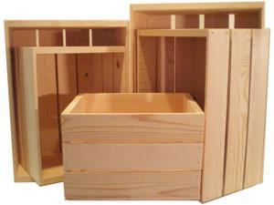 Nesting Wooden Crate 5pc Set
