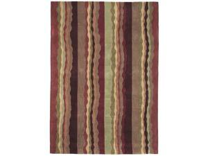 "Sands Trio Jagged Stripe Berry Area Rug (5'X7'6"")"