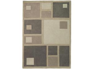 "Sands Trio Squares Brown Area Rug (5'X7'6"")"