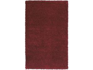Sands Goa Red Super Thick Shag Area Rug (5'X8')