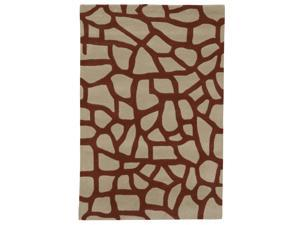 Sands Modern Highlights Cobble Stones Tan Area Rug (5'X8')