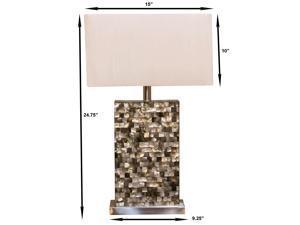 "Bombay™ Lighting Cream Porcelain Stacked Seashells 29"" Table Lamp"
