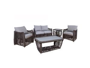 Michael Anthony Amalfi 5 Piece Outdoor Wicker Patio Set