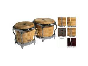Latin Percussion LP201AX2DW Generation II Bongos, Wine Red with Chrome Comfort Curve Rims