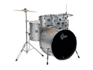 Gretsch Renegade 5 Piece Drum Set with Hardware and Cymbals (Metallic Silver)