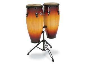 Latin Percussion City Congas with Stand, Vintage Sunburst