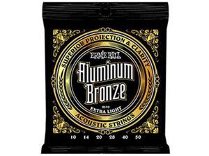 Ernie Ball Aluminum Bronze Extra Light Acoustic Guitar Strings (10-50)