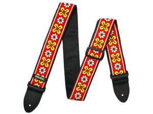 Dunlop D6703RD Jacquard Guitar Strap, Avalon Red
