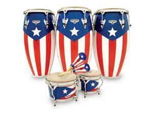 Latin Percussion M750SPR  Matador Series Puerto Rican Flag Congas