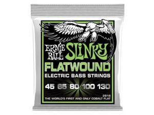 Ernie Ball 2816 Regular Slinky Flatwound Electric Bass Guitar 5-String Set, 45-130