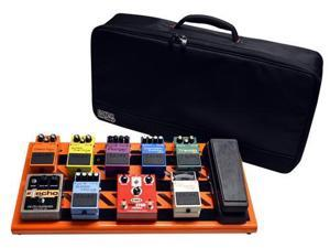 Gator GPB-BAK Large Lightweight Aluminum Pedal Board with Carry Bag, British Orange