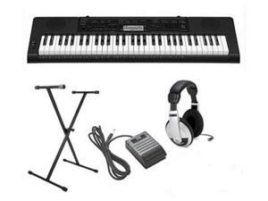 Casio CTK-3200 4 pc Ultra-Premium Keyboard Package With Headphones, Stand, Sustain Pedal and Power Supply