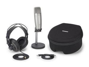 Samson C01U Pro Podcasting Pack - USB Studio Condenser Microphone with Accessories