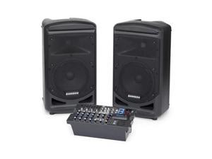 "Samson XP800B Portable PA -Stereo 8"" 2-way Monitors with removable 8-channel powered mixer (2 x 400 watts)"