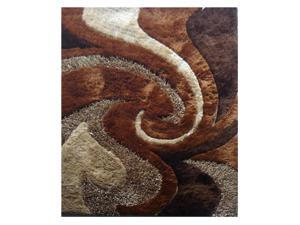 "LA Rugs Fantasy Shaggy-new 5'x7'3"" Multi-Color Area Rug FA-23-573"
