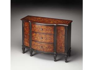 Butler Console Cabinet, Black & Tan - 674283