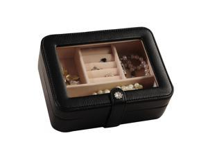 Mele & Co. Mele & Co. Rio Faux Leather Glass Top Jewelry Box in Black 0055362M