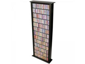 "Venture Horizon Bookcase Media Tower - Tall Single (Black) (76""H x 28""W x 9.5""D) 2411-21BL"