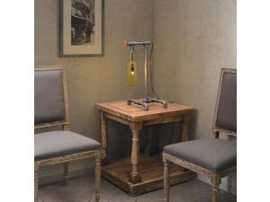 Zuo Zuo Amberine Table Lamp Gray & Orange Glass - 98294 98294