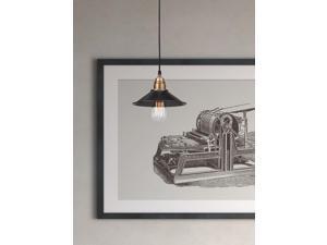 Zuo Zuo Amarillite Ceiling Lamp Antique Black Gold & Brass - 98257 98257