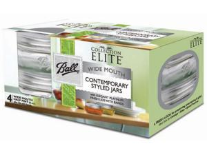 Ball Jar Elite Pltnm 4Pk 3112-3144