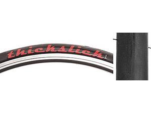 TIRES FREEDOM THICKSLICK 700x25 RACE FOLDw/RED LETTERS