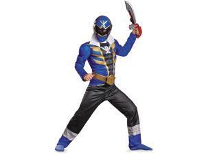 Disguise Saban Super MegaForce Power Rangers Blue Ranger Classic Muscle Boys Costume