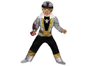 Disguise Saban Super MegaForce Power Rangers Special Ranger Silver Toddler Muscle Costume