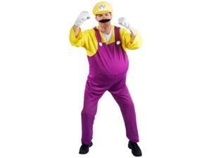 Adult Mario Brothers WARIO Jumpsuit Halloween Costume