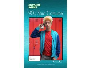 Adult Zack Morris Halloween Costume Saved by the Bell Bayside 90's stud Jacket & Wig