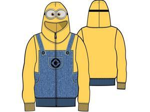 Despicable Me Minion Child Yellow Zip Up Costume Sweatshirt