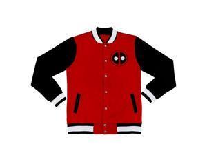Team Deadpool Varsity Adult Red Jacket