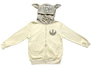 Star Wars Boys Yoda Sand Zip Up Costume Hoodie Sweatshirt