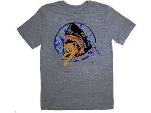 Pineapple Express Saul Silver Shark Eating Kitten Gray Adult T-Shirt