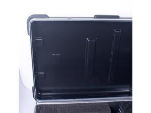 Crossrock CRA888KBK 88 Keys Keyboard Hardshell Case, Custom Inside, with Wheels, Black
