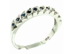 Genuine Solid Sterling Silver Natural Sapphire Eternity Ring - Size 11.75 - Finger Sizes 4 to 12 Available