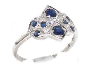 VINTAGE design 925 Solid Sterling Silver Natural Sapphire Ring - Size 9.5 - Finger Sizes 4 to 12 Available