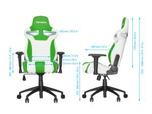 Vertagear VG-SL4000 Series Ergonomic Racing Style Gaming Office Chair - White/Blue