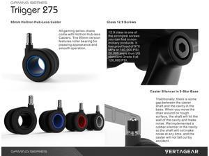 Vertagear Gaming Series Triigger 275 Ergonomic Office Chair (Red)