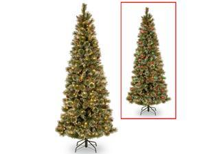 9 ft. PowerConnect™ Glittering Pine Slim Tree with Dual Color LED Lights