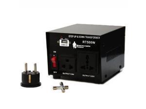 Rockstone Power 500 Watt Heavy Duty Step Up/Down Voltage Transformer Converter - Step Up/Down 110/120/220/240 Volt - 5V USB Port - CE Certified [3-Year Warranty]