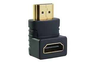 Topwin HDMI male to HDMI female cable adaptor converter extender 90 degree angle for 1080P HDTV for hdmi adapter