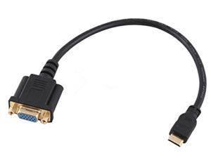 Topwin 15 Pins 20cm Mini HDMI Male to VGA Female Connector Adapter Converter Cable