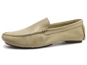 New Hush Puppies Beige Monaco Slip On Moccasin Toe Mens Shoes, Size 8