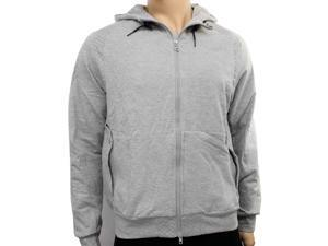 New Reebok Mens CL M Zip Heather Grey Hooded Zip Up Hoody, Size XS