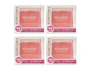 Japan Diax Viccolor Peach & Kiss Air Freshener (Genuine Diax JDM Products) - 4 Pack